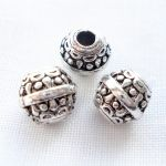 PATTERNED PEWTER BEAD