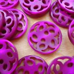 ROUND FLOWER BUTTON