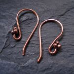 BEADED COPPER EAR HOOK