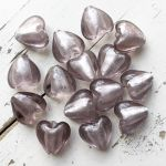 GLASS HEART BEAD