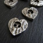 HAMMERED HEART BUTTON