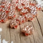 COPPER FLOWER BEAD